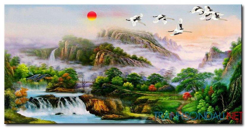 Tranh Sơn Thủy M2127