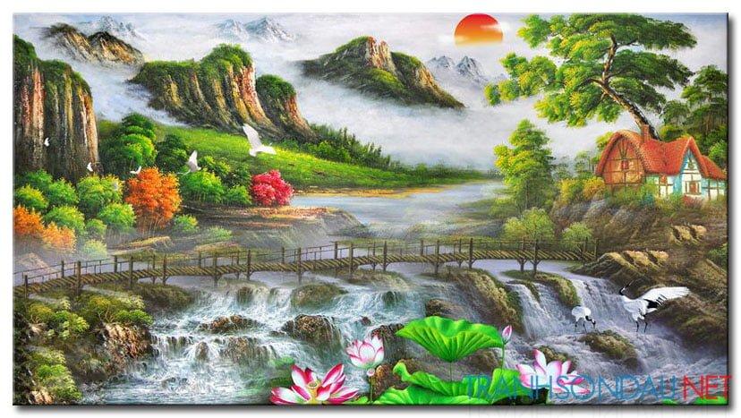 Tranh Sơn Thủy M2128