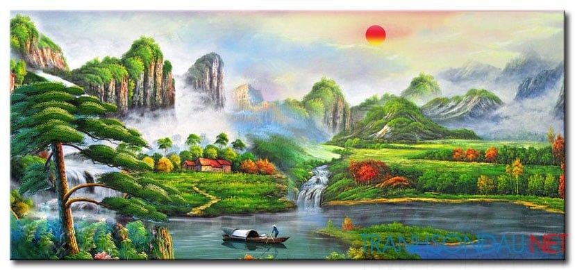 Tranh Sơn Thủy M2138