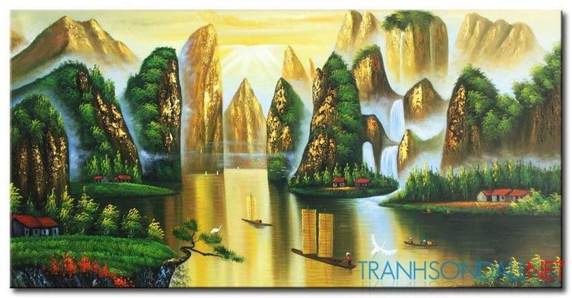 Tranh Sơn Thủy M2140