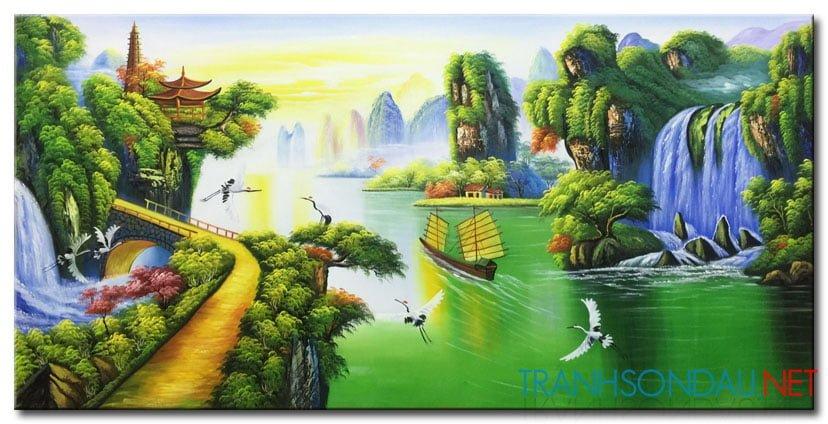 Tranh Sơn Thủy M2142