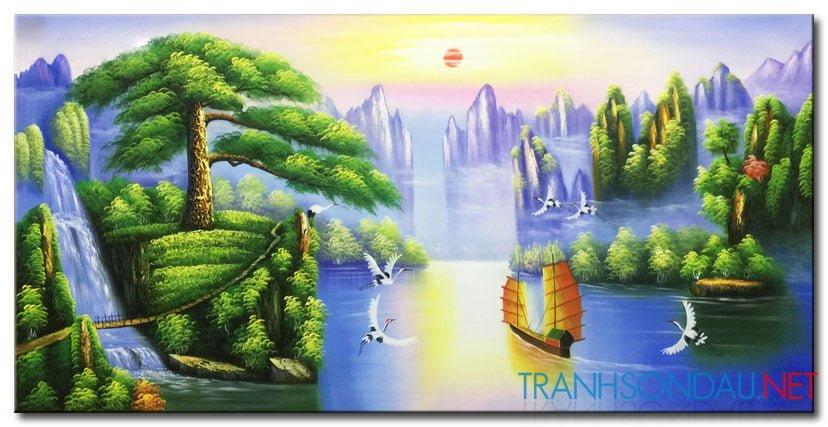 Tranh Sơn Thủy M2145