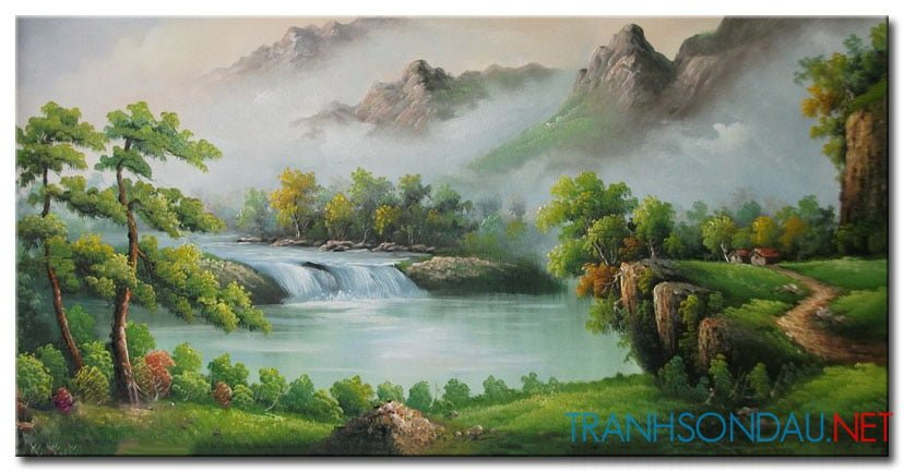 Tranh Sơn Thủy M2148