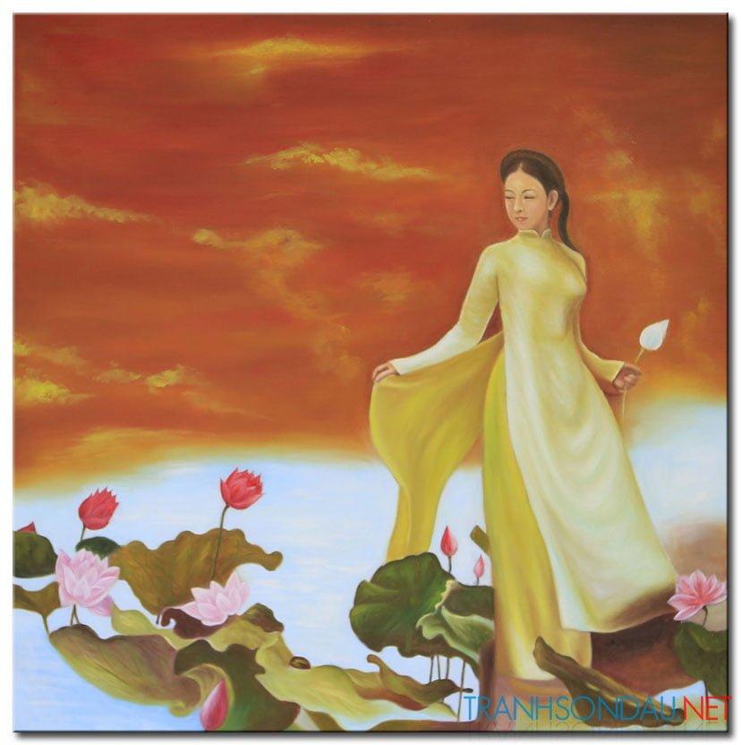 Thiếu Nữ Bên Hoa Sen M1972