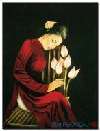 Thiếu Nữ Bên Hoa Sen M1986