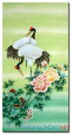 Chim Hạc Và Hoa Mẫu Đơn M1577