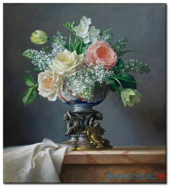 tranh hoa hong m2397